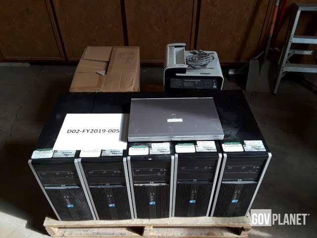 Lot of HP 8100 Computers, HP EliteBook 8570P, Printer, Speakers - D2