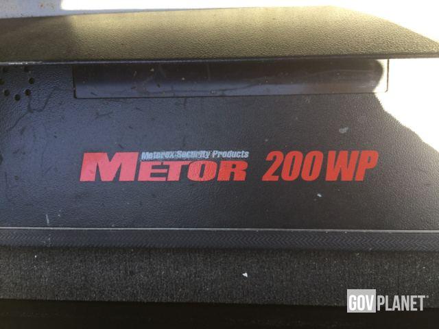 Surplus 2 Rapiscan Metorex Metor 200WP Metal Detectors In