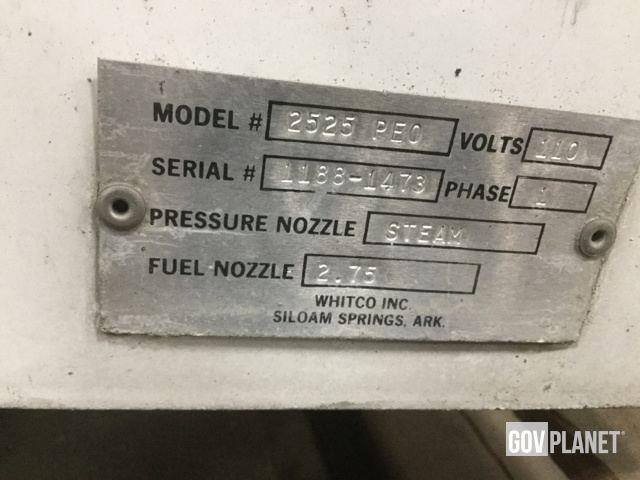 Surplus Whitco 2525-PE0 Pressure Washer & Steam Cleaner in