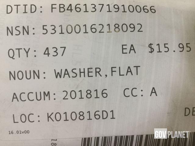 Surplus (437) Fastenal 33076 Flat Washers - Unused in North