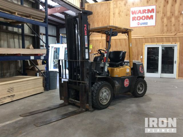 TCM FHD36Z2T Pneumatic Tire Forklift in Hawley, Pennsylvania, United