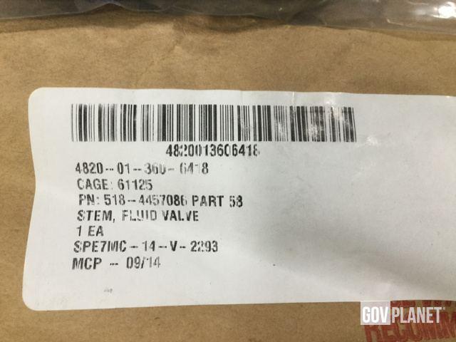 Surplus (15) J G B  Enterprises 218-4457086 Fluid Valve Stems in