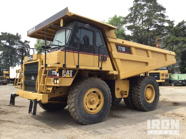 2006 Cat 771D Off-Road End Dump Truck, Rock Truck
