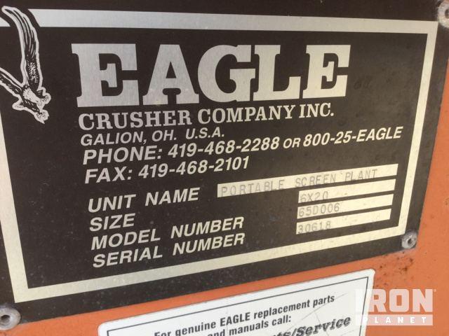 2007 Eagle 1400-45 Portable Impact Crusher Plant w/ Screen