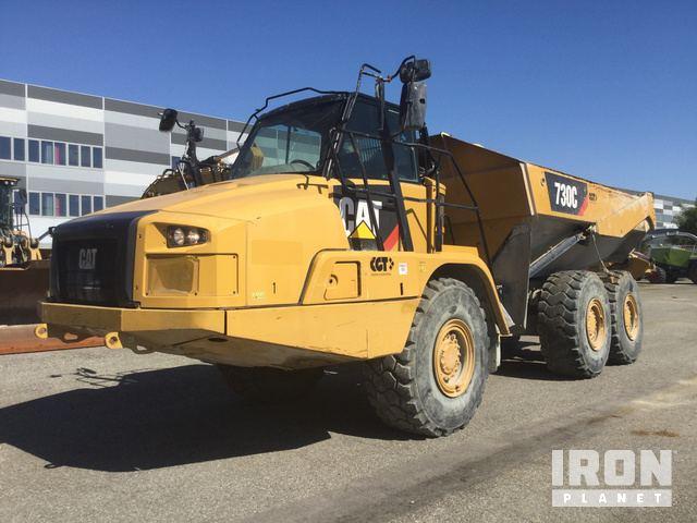 Caterpillar 730 Articulated Dump Truck Specs & Dimensions