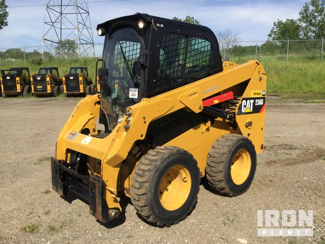 2015 cat 236d skid-steer loader, skid steer loader