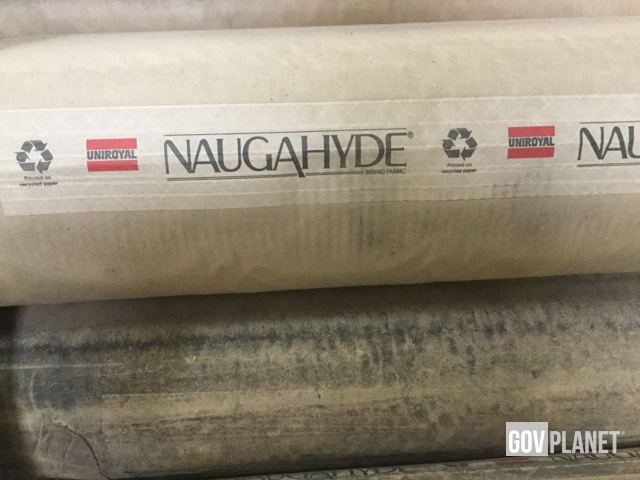 Surplus (9) Rolls of Naugahyde RB54 Regimental Blue 54