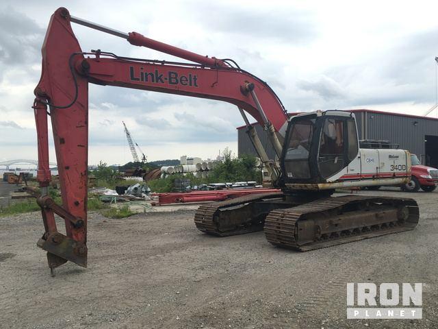 Link-Belt 3400QLF Long Reach Excavator, Hydraulic Excavator