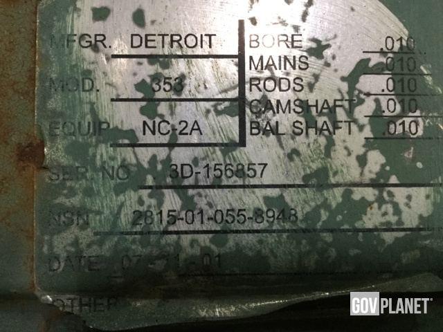 Surplus Detroit Diesel 353 Diesel Engine in Chambersburg