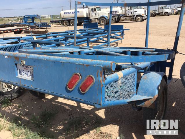 Lot 1113 - Horizontal Poly Pipe Spool S/A Trailer in Midland