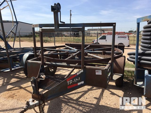 Lot 1114 - Horizontal Poly Pipe S/A Spool Reel Trailer in