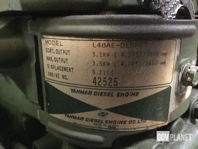 Yanmar L48AE-DEGMR Diesel Engine