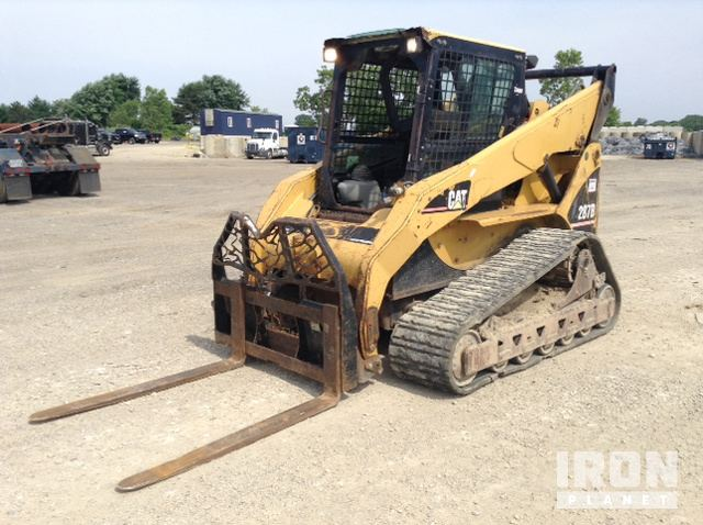 Cat 287B Compact Track Loader In Durand Michigan United