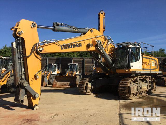 Liebherr R974B Hydraulic Excavator Specs & Dimensions