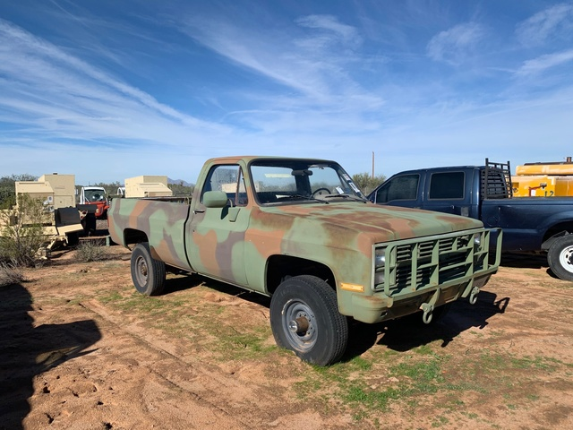 Chevy Military Trucks For Sale >> 1986 Chevrolet D30 4x4 Pickup
