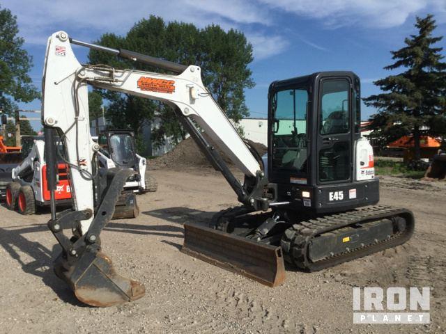 2017 Bobcat E45 Mini Excavator, Mini Excavator (1 - 4.9 Tons)