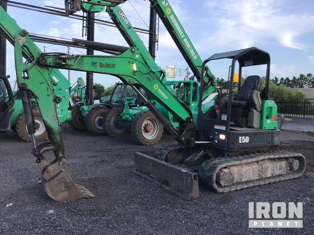 2013 Bobcat E50M Mini Excavator in Orlando, Florida, United
