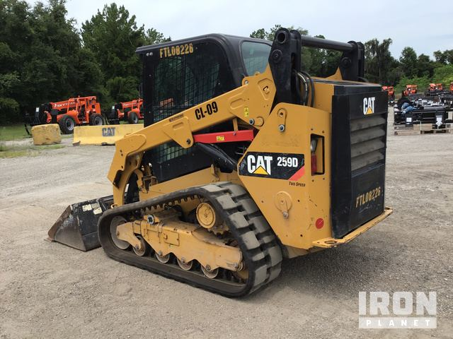 2016 Cat 259D Compact Track Loader in Ocala, Florida, United