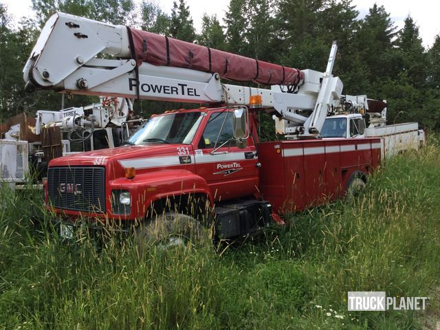 Terex HR50M Bucket on 2000 GMC C7500 S/A Truck, Bucket Truck