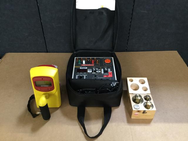 (1) Roentgen Rate Meter, (1) Safety
