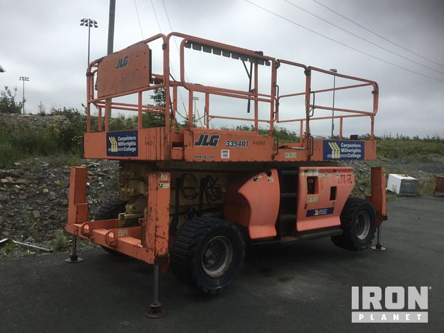 JLG 3394RT 4WD Dual Fuel Scissor Lift, Scissorlift