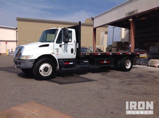 Surplus 2004 International 4400 Flatbed Dump Truck in