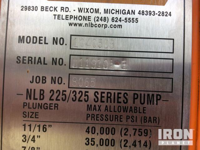 2011 NLB 10405DB Water Blaster in Houston, Texas, United