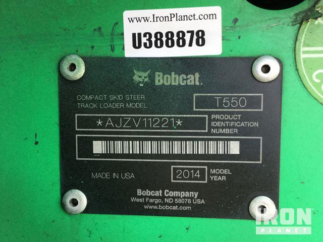 Surplus 2014 Bobcat T550 Compact Track Loader in Sanford