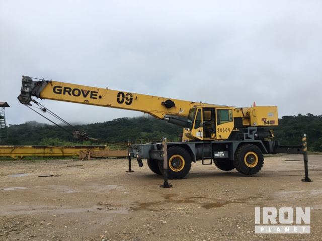 Grove RT540E Rough Terrain Crane Specs & Dimensions