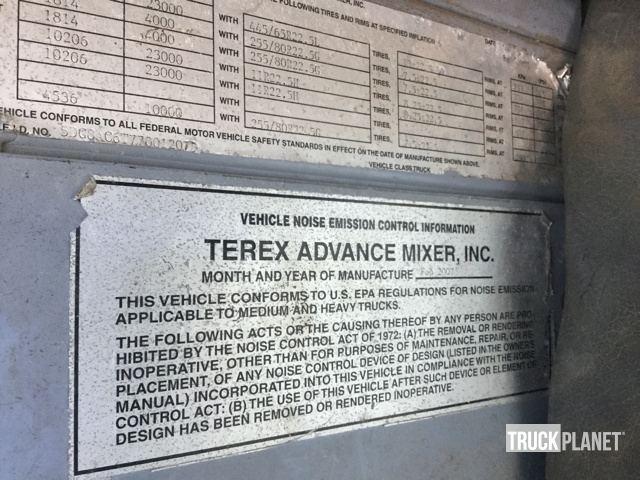 2007 Terex/Advance C13335APPT61211 5 Axle Mixer Truck in