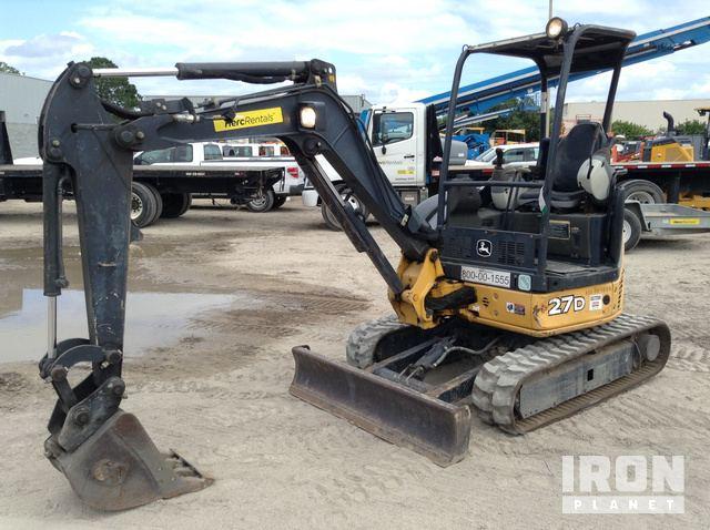 2013 John Deere 27D Mini Excavator in Orlando, Florida