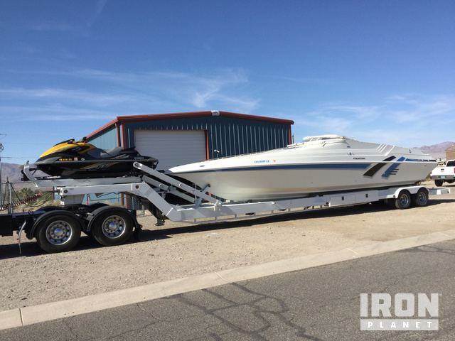 1992 Fountain 38 Sport Boat w/ 2012 Yamaha Wave Runner FZS & T/A Boat Trailer, Jet Boat