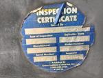 Naklejka certyfikatu bezpieczeństwa