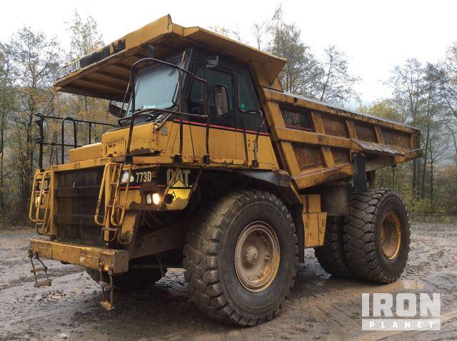 1997 Cat 773D Off-Road End Dump Truck, Rock Truck