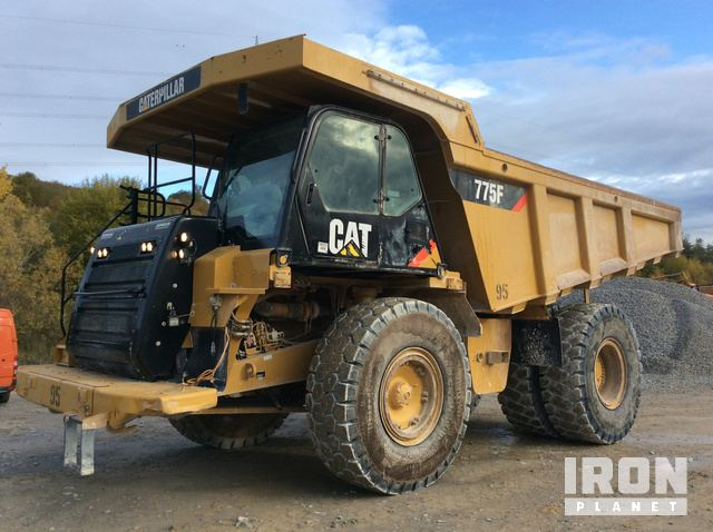 2010 Cat 775F Off-Road End Dump Truck, Rock Truck