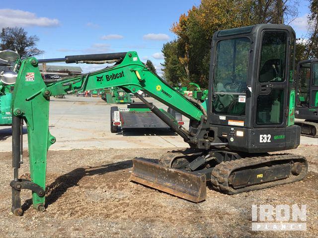 2013 Bobcat E32M Mini Excavator, Mini Excavator (1 - 4.9 Tons)