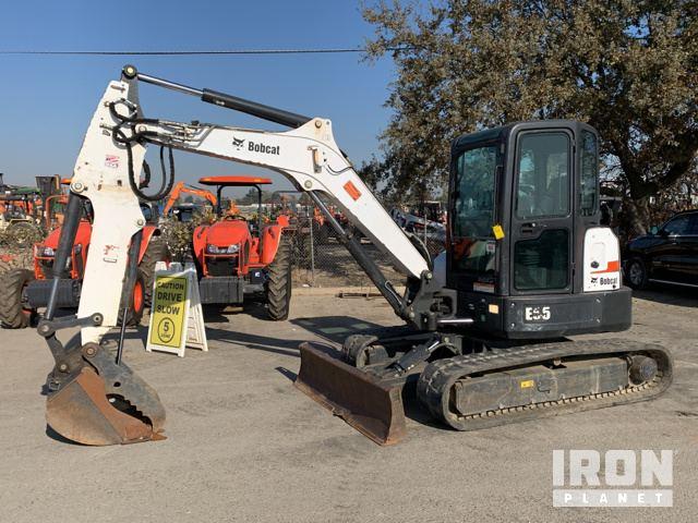 2014 Bobcat E55 Mini Excavator, Mini Excavator (1 - 4.9 Tons)