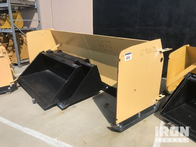 12' Snow Pusher Attachment - Fits Backhoe Loader, Snow Equipment - Other