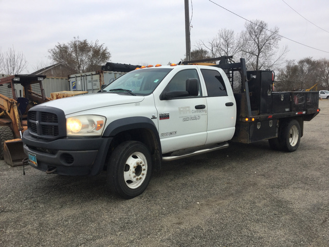 Flatbed Truck For Sale >> 2008 Dodge Ram 5500 4x4 Flatbed