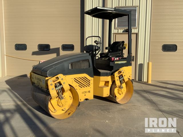 2014 Bomag BW120AD Vibratory Double Drum Roller, Tandem Roller