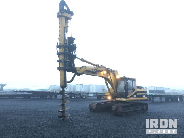 LoDril LLM-40 Foundation Drill on Cat 320L Track Excavator, Hydraulic Excavator
