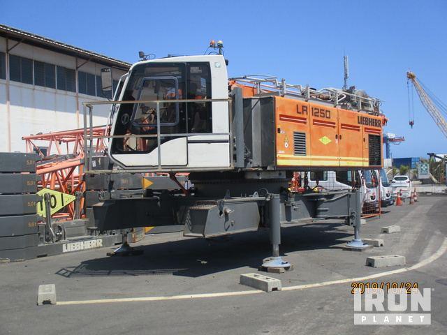 2014 Liebherr LR1250 Lattice-Boom Crawler Crane, Crawler Crane