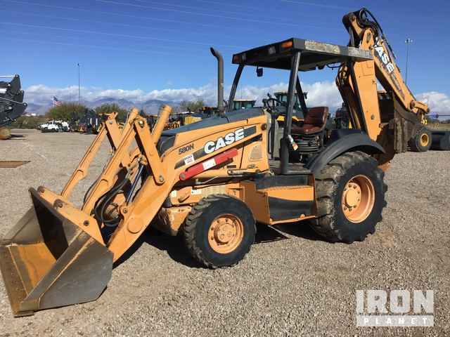 2012 Case 580N 4x4 Backhoe Loader, Loader Backhoe