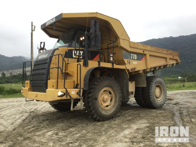 2010 Cat 770 Off-Road End Dump Truck, Rock Truck