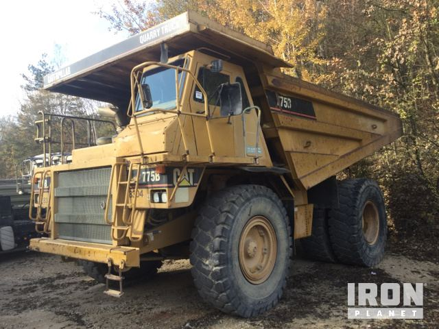 1993 Cat 775B Off-Road End Dump Truck, Rock Truck