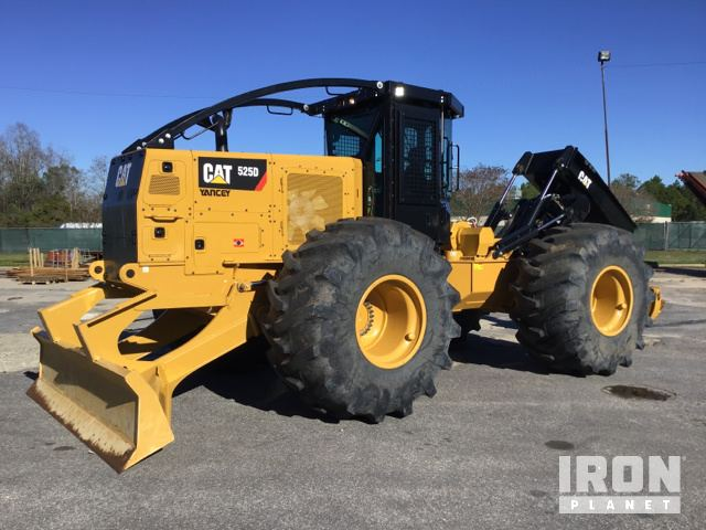 2018 Cat 525D Wheel Skidder, Skidder
