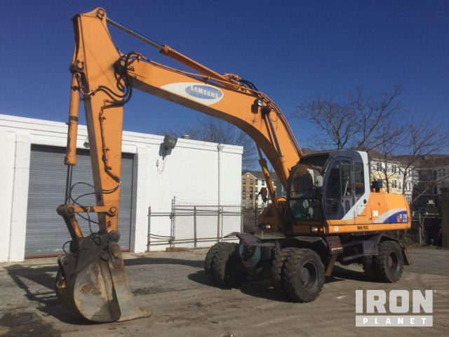 Samsung SE210W-2A Wheel Excavator, Mobile Excavator