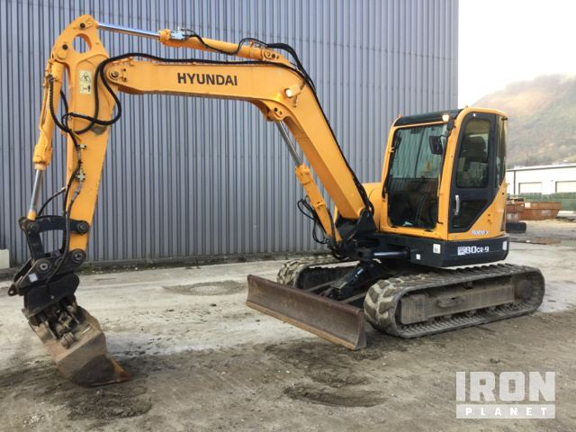 2011 Hyundai Robex 80CR-9 Track Excavator, Hydraulic Excavator