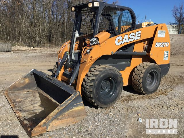 2017 Case SR270 Skid-Steer Loader, Skid Steer Loader