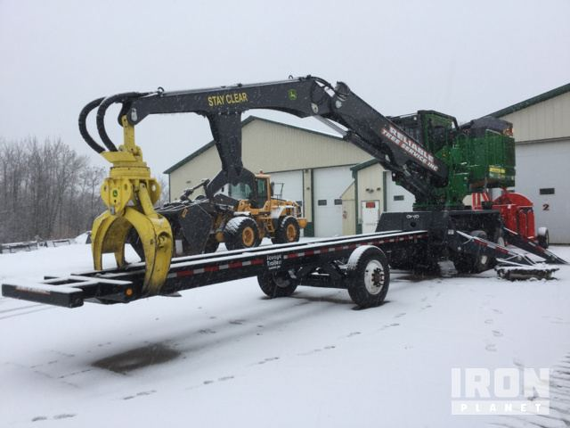 2017 John Deere 437E Trailer Mounted Log Loader, Log Loader